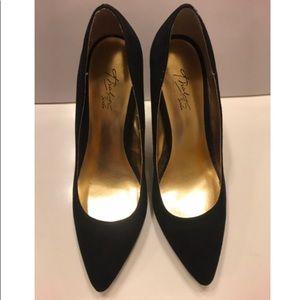 Black Thalia Sodi pumps with gold accent heel